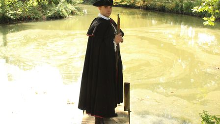 Quinn Richards as East Anglia's highwayman Thomas Easter in the touring play The Honest Gentleman Ph