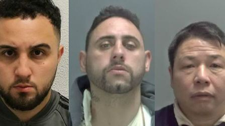 Alex Vedat (left), Joseph Sharpe (centre) and Ping He (right) were some of the people jailed in Norf