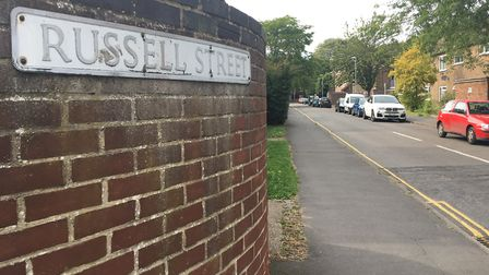 Russell Street has been having problems with anti-social behaviour and drug dealing. Picture: Andrew