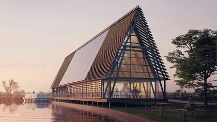How the visitor centre would look. Critics want something more modest and cheaper, but the Broads Au