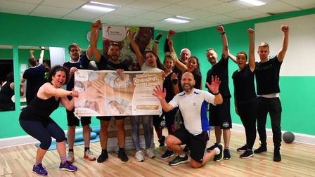 The team that took part in the tabata challenge. Picture: Premier Foundation