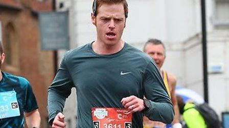 Mark Armstrong in action at the Cambridge Half Marathon. Picture: Cambridge Half Marathon