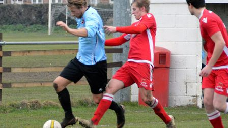 Dom Mirner was on target for Bungay Town in their 6-1 Anglian Combination First Division win over Re