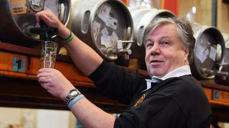 Organiser Martin Ward checks one of the beer casks as preparations are well under way for the 2019 G