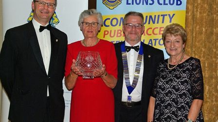 Sarah Jane Lavington with the third annual Ivan Holmes Community Award, Photo: Beccles and District