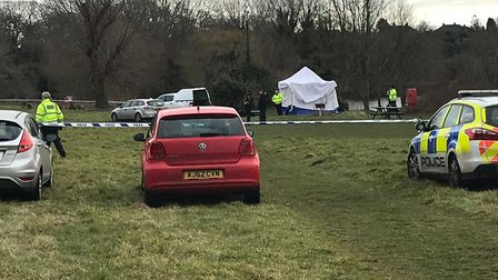 Dive teams are searching UEA lake for missing student Nick Sadler. Picture: Archant