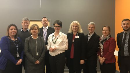 Chloe Smith MP meets with headteachers from schools in her Norwich North constituency. Picture: Chlo