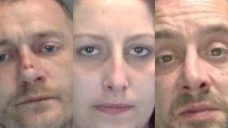 James Fuller, Leanne Horsnell and Robert Smith are wanted by police. Photo: Norfolk Constabulary