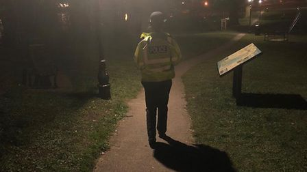 Police have been conducting reassurance patrols after an affray in Diss. Picture: South Norfolk Poli
