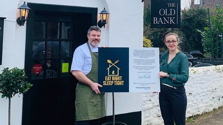 The Old Bank has signed up to the Purfleet Trust 'Eat well-Sleep tight' campaign. Photo: Joy Wylie