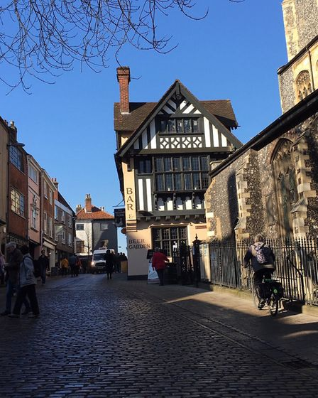 The bustling lanes are full of places to shop. Photo: Norwich Lanes