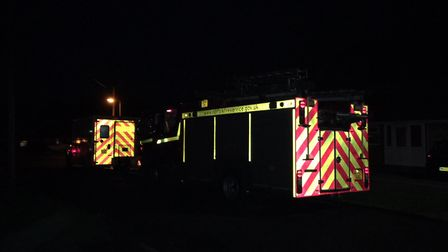 The scene of the fire at Caister-on-Sea. Photo: Joe Norton