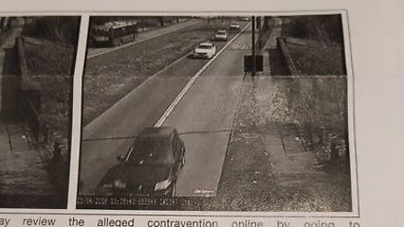The black car caught driving in a Birmingham bus lane which Mr Pearce was fined for, despite never h