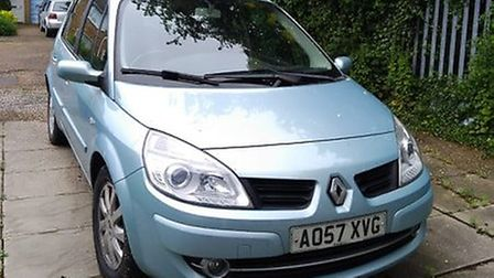 Mr and Mrs Pearce's aquamarine car looks very different to the black vehicle caught driving in a bus
