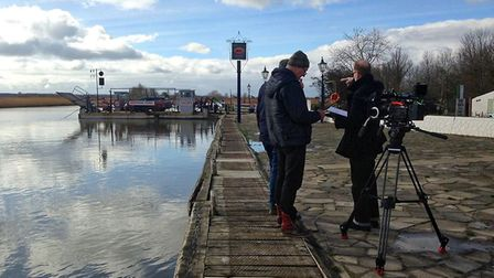 Filming at Reedham Ferry Credit: Crispin Buxton