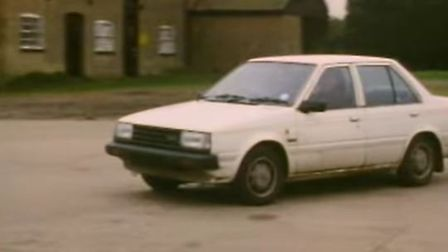A replica of the white salon car seen on February 6 1989 close to where Jeanette Kempton's body was