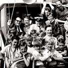 Eager for a sea trip! Twenty Dr Barnardo's underprivileged lads on the Eastern Princess in 1964, wit