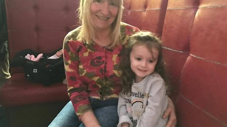 Five-year-old Layla pictured with her late grandmother, Julie Dickerson. Picture: Contributed by Dic