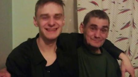 Remigijus Balsevicius (right), pictured here with his son Vykintas, was found dead on the bottom of