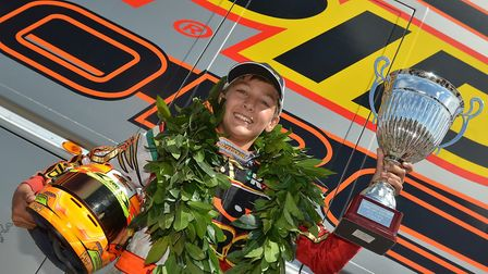 George Russell was crowned European karting champion in August 2011 Picture: Archant