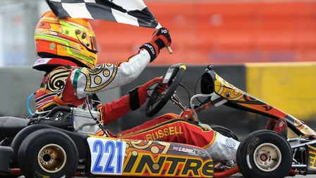 George Russell began his career in karts Picture: Archant