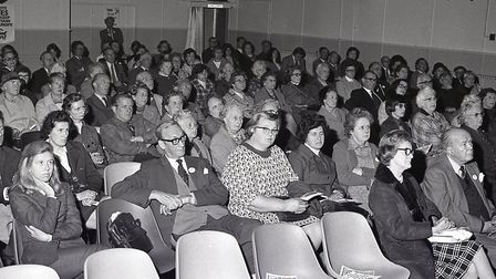 'South West Norfolk for Europe' meeting in Dereham, 28 May 1975. Photo: Archant Library
