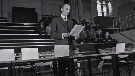 Counting the ECC Referendum votes in St Andrew's Hall in Norwich, June 1975. Photo: Archant Library