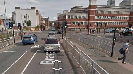 The junction of Brazengate and Queens Road in Norwich Photo: Google Street View