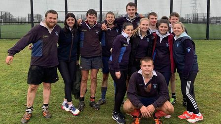 Wymondham Young Farmers' Club celebrated three victories at the County Sports Day. Picture: Norfolk