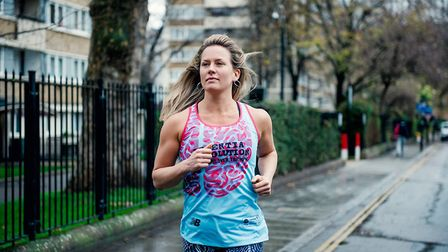 Laura Sides who will run the London Marathon to support Dementia Revolution. Photo: PA Real Life/Ale