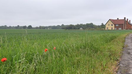 Plans for new homes would have been developed on land behind Brooke Village Hall. Picture: Nick Butc