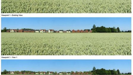 Illustrative images of what the planned 148 homes in Brooke would have looked like. Picture: FW Prop