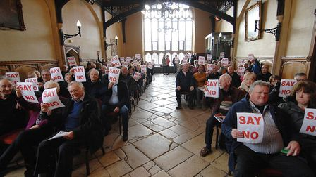 Objectors also packed the Stone Hall next to the council chamber Picture: Chris Bishop