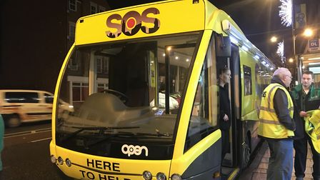 The SOS Bus on Prince of Wales Road. Picture: Abigail Nicholson