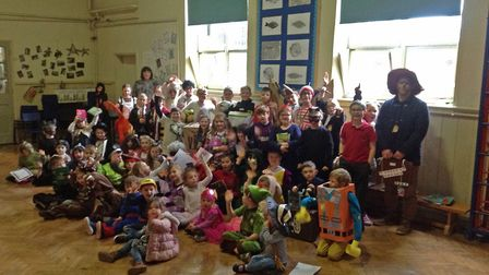 Antingham and Southrepps Primary School on World Book Day 2019. Photo: Antingham and Southrepps Prim