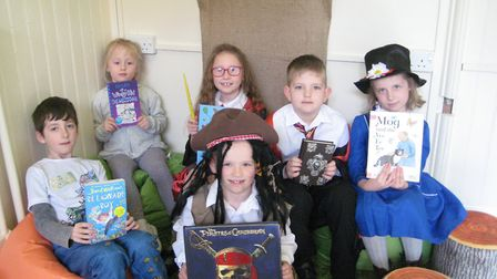 Year 2 students celebrating World Book Day 2019 at Dell Primary School. Photo: Dell Primary School