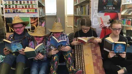 Long Stratton High School students dressed up and took part in a sponsored readathon for World Book