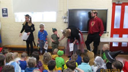 World Book Day at Mendham Primary School. Photo: Mendham Primary School
