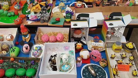 Moorlands Primary Academy students created potato characters and had a lunchtime book swap on World