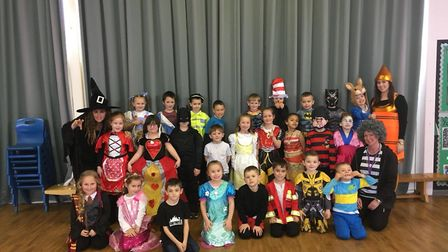 Staff at Westwood Primary School on World Book Day 2019. Photo: Westwood Primary School