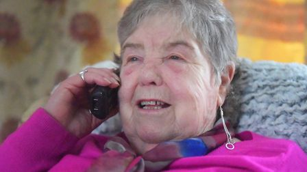 Gloria Fieldhouse was charged 20 in a telephone trap when she was trying to be transferred to her ba