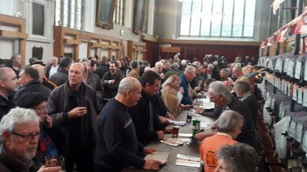 The Great British Beer Festival Winter at the Halls in Norwich. Picture: Norfolk CAMRA