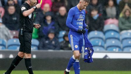 Leicester City's James Maddison celebrates scoring his side's first goal of the game and reveals a t