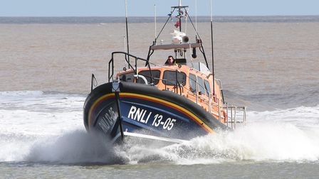 Lowestoft lifeboat arriving back after the medical evacuation from the ship. Picture: Mick Howes/RNL