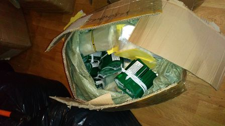 Illegal tobacco. Pic: Norfolk Constabulary.
