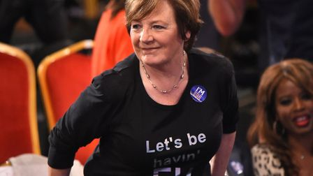 Delia Smith during the Channel 4 EU referendum debate. PRESS ASSOCIATION Photo. Picture date: Wednes