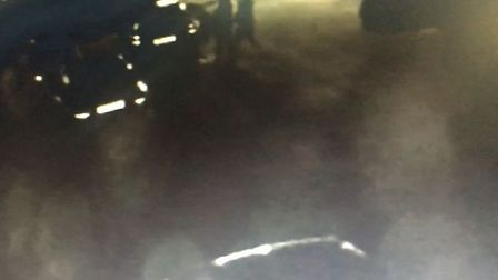 CCTV footage shows the victim being approached by the two attackers in Hingham. Photo: Supplied.
