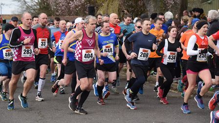 Runners in the Mad March Hare 10k run at Scottow. Picture: DENISE BRADLEY