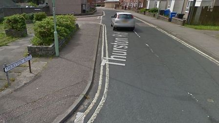 Thurston Road in Lowestoft is closed for essential gas maintenance works. Picture: Google Images