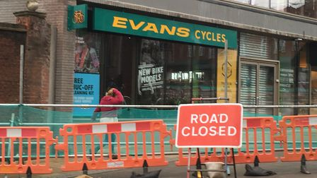 Evans Cycles has said it hopes to reopen this week. PIC: Peter Walsh.